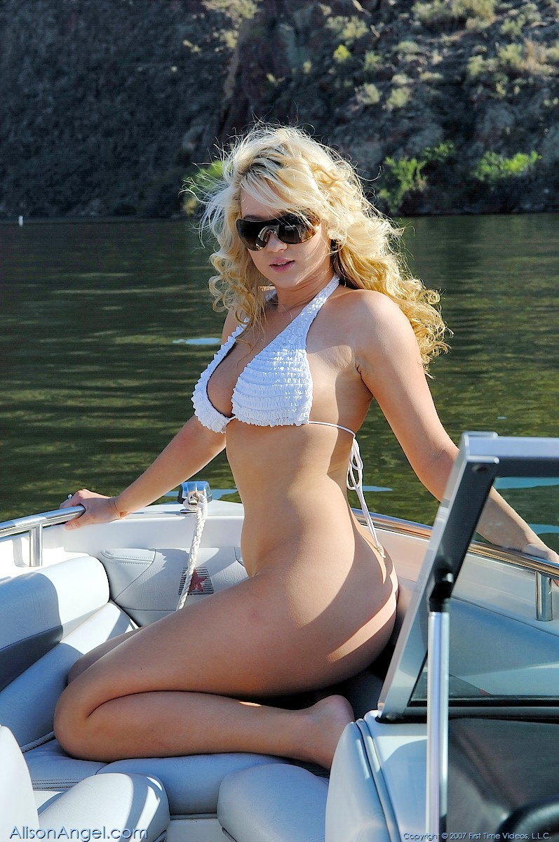 Alison Angel Naked On A Boat