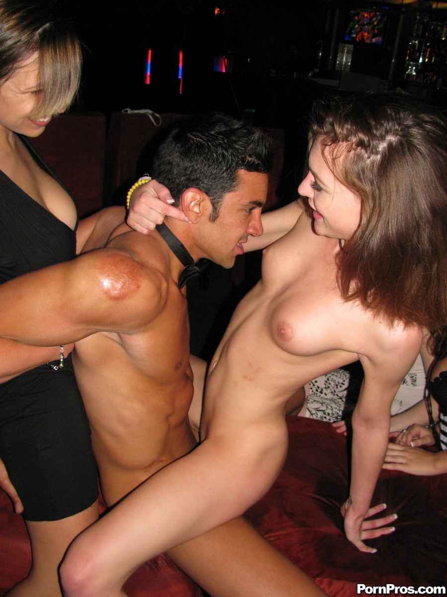 At stripper girls party male
