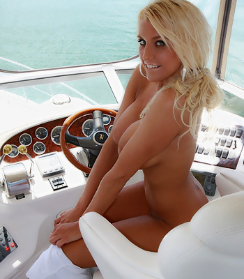 She's on a boat