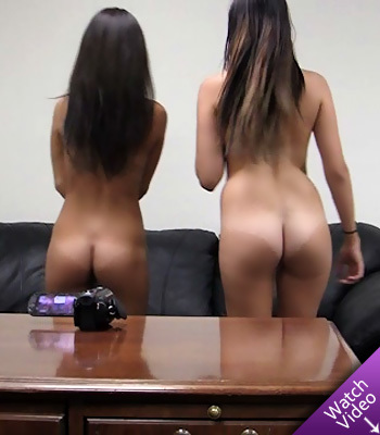 Melanie and Natalee on Backroom Casting Couch