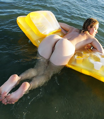 Alissa on a raft