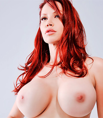 Dark red haired girl naked