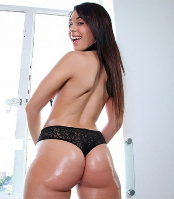 big bottomed and busty latina - Big bottomed and busty Latina undressing and getting fucked