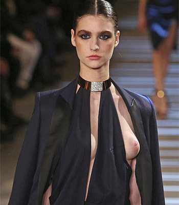 Fashion week nipple slip