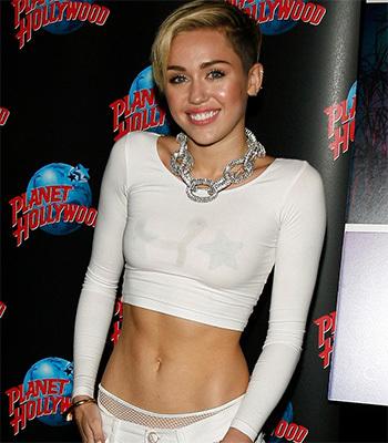 Miley cyrus see through top