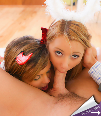 Marina Angel and Keisha Grey Trick or Treat