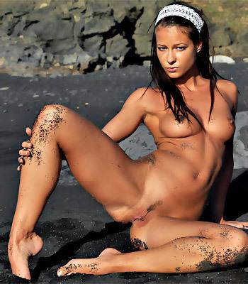 Tanned Beach Babe