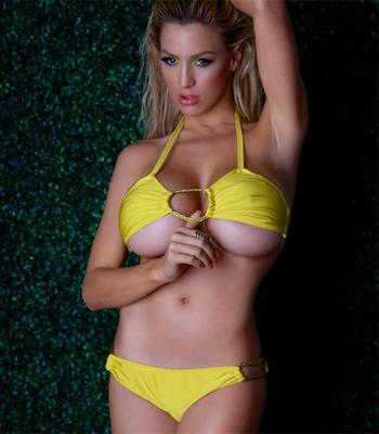 Jordan Carver Yellow Bikini