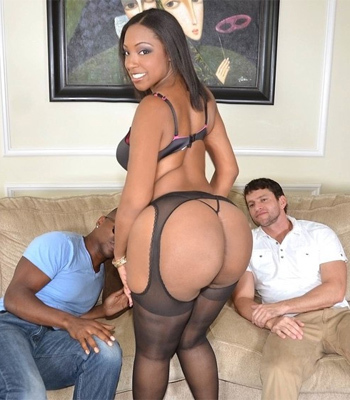 Layla Monroe Takes Two Cocks