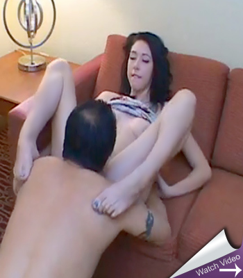 Hannah lay on amateur creampies